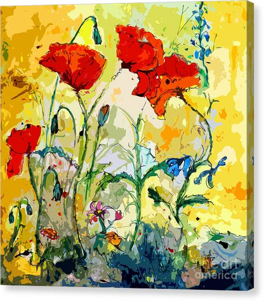 Poppies Provencale Canvas Print