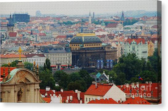 Prague Canvas Print - Prague Skyline by Pravine Chester