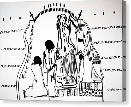 Gloria Canvas Print - Presentation Of Jesus In The Temple by Gloria Ssali