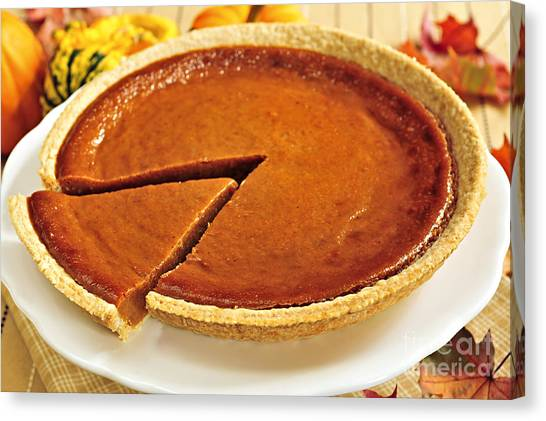 Thanksgiving Canvas Print - Pumpkin Pie by Elena Elisseeva