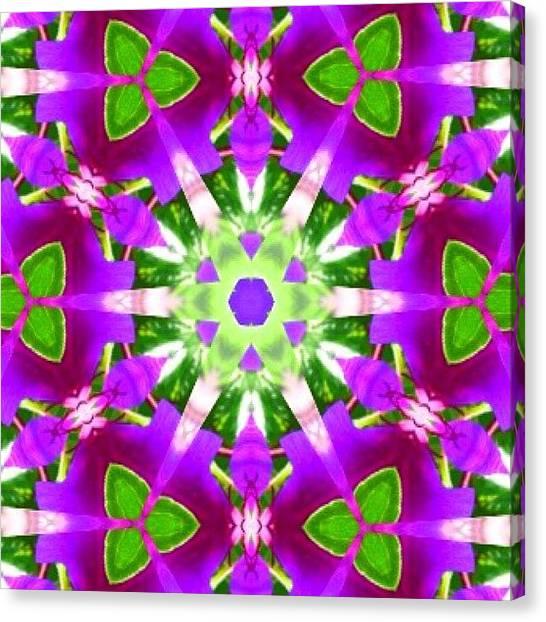 Fractal Canvas Print - #purple And #green #fractalart #mandala by Pixie Copley
