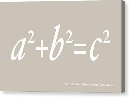 Mass Canvas Print - Pythagoras Maths Equation by Michael Tompsett
