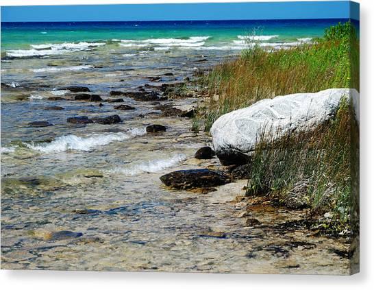 Quiet Waves Along The Shore Canvas Print