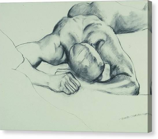 Canvas Print - Reclining Nude by Chae Min Shim