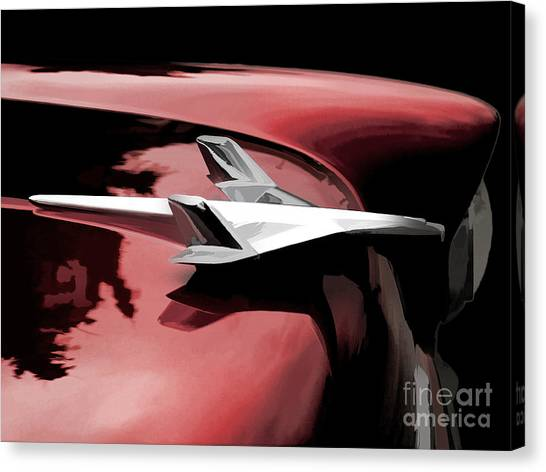 Abstractions Canvas Print - Red Chevy Jet by Douglas Pittman