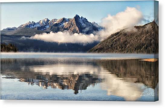 Redfish Lake Canvas Print by Lisa Kidd