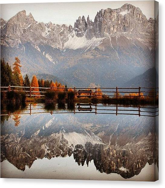 Landscape Canvas Print - Reflections by Luisa Azzolini