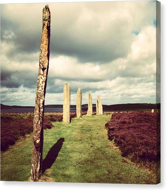 Geometric Canvas Print - Ring Of Brodgar by Luisa Azzolini