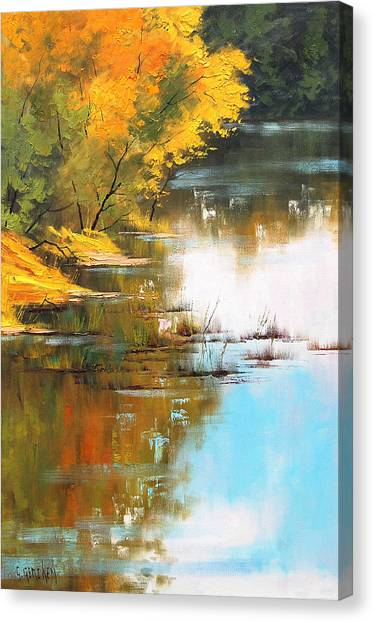 River Bank Canvas Print by Graham Gercken