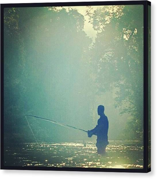 Rainforests Canvas Print - #river #fishing Somewhere In by Manan Din