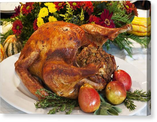 Stuffing Canvas Print - Roast Turkey by Tetra Images