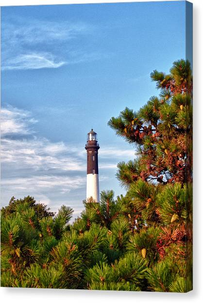 Robert Moses Light House Canvas Print by Linda Pulvermacher
