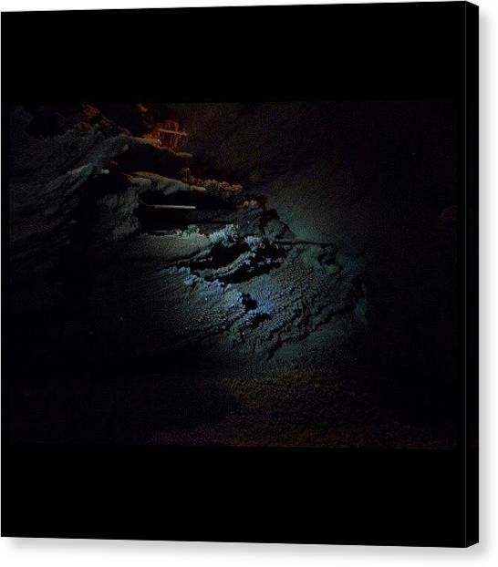Stalactites Canvas Print - #rock #stone #naturalbridgecaverns by Clifford McClure