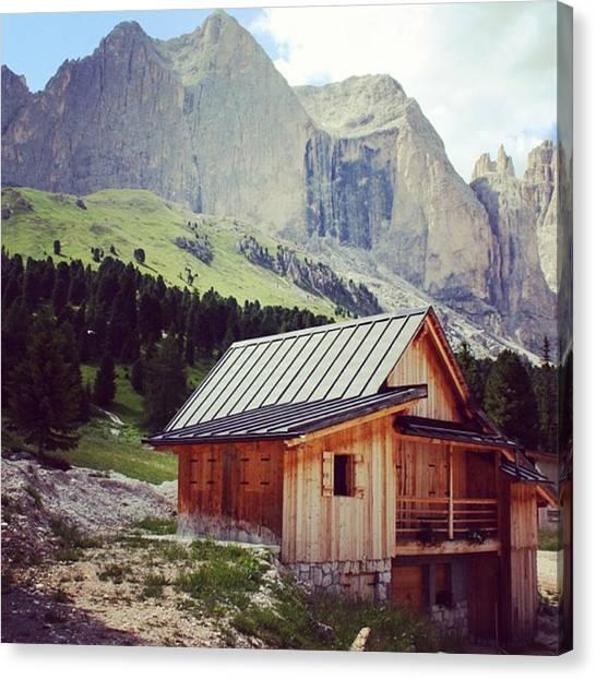 House Canvas Print - Rosengarten - Dolomites by Luisa Azzolini