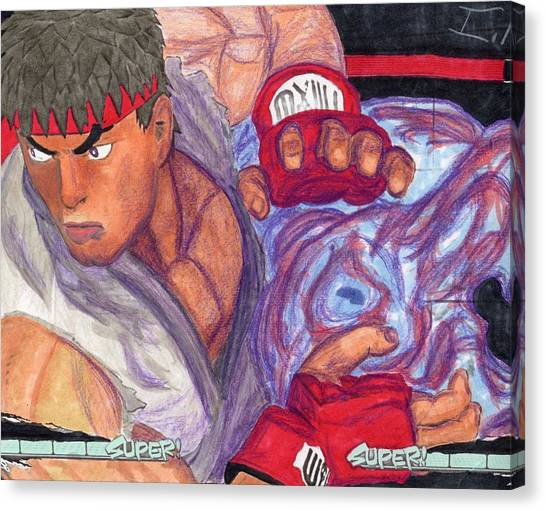 Street Fighter Canvas Print - Ryu by Isaac Mullens
