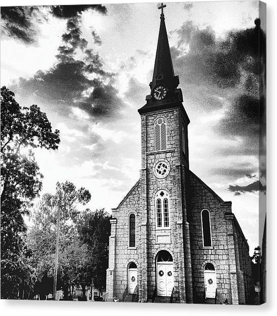Priests Canvas Print - Sacred Heart Church 2 by Rex Pennington