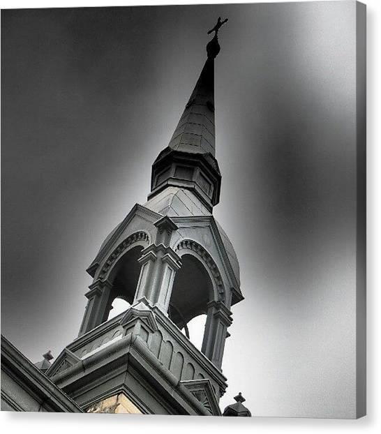 Saskatchewan Canvas Print - Sacred Heart Roman Catholic #church In by Michael Squier
