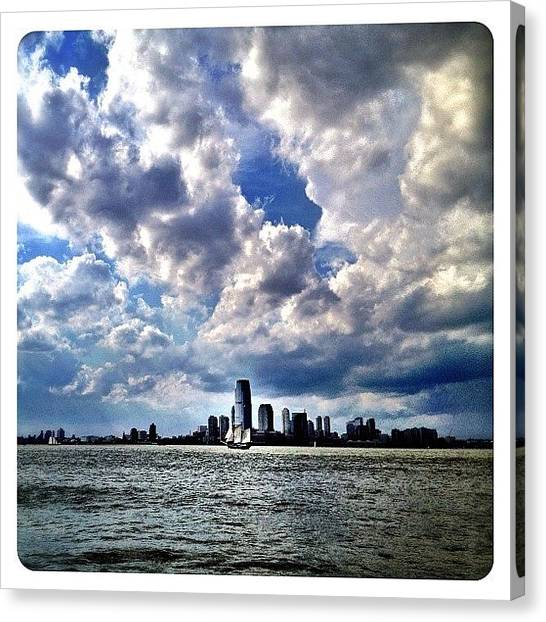 Sailboats Canvas Print - Sailing The Hudson by Natasha Marco