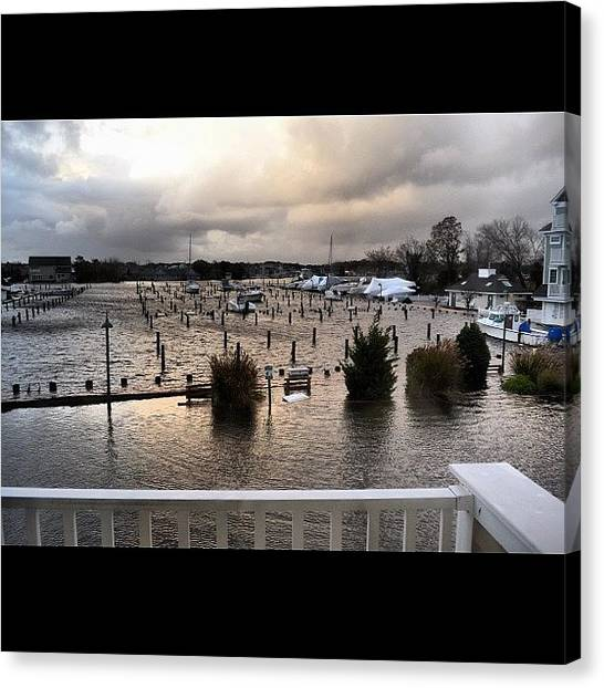 Hurricanes Canvas Print - #sandy #hurricane #aftermath #flooding by Jake Work