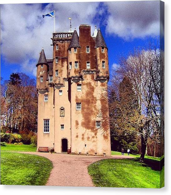 Travel Canvas Print - Scottish Castle by Luisa Azzolini