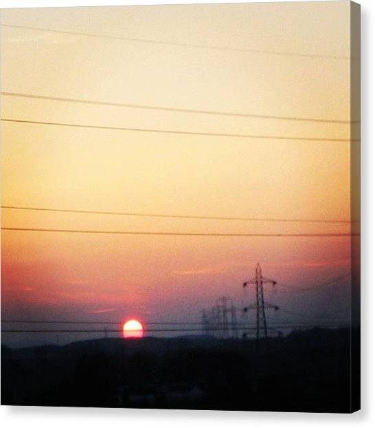Sunsets Canvas Print - Scottish Sunset by Luisa Azzolini