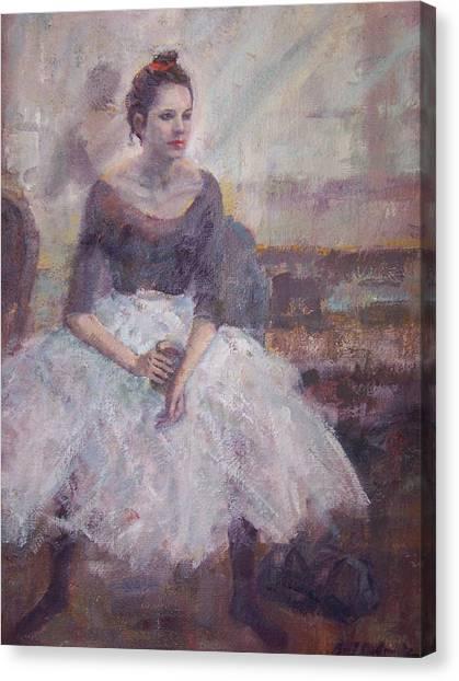 Seated Ballerina Canvas Print