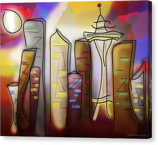 Seattle Canvas Print by Melisa Meyers