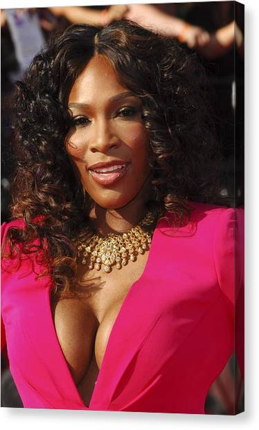 Serena Williams Canvas Print - Serena Williams At Arrivals For The by Everett