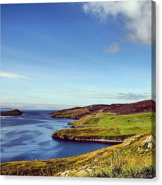 Seas Canvas Print - Shetland Island by Luisa Azzolini