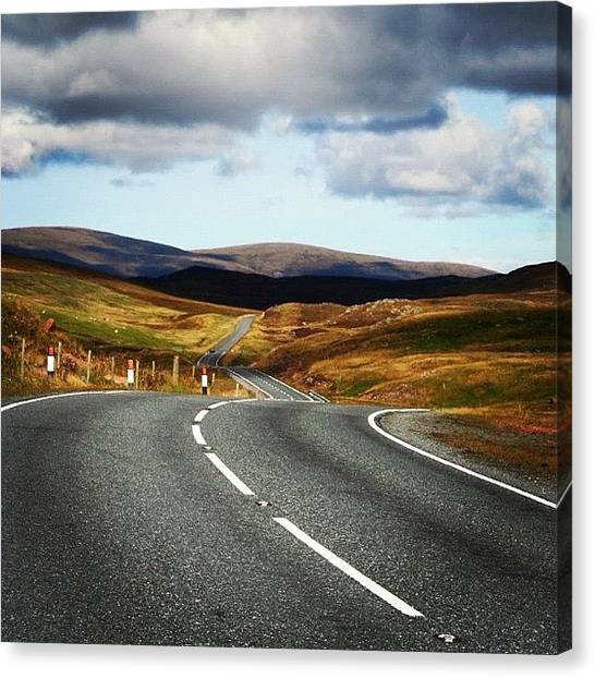 Roads Canvas Print - #shetland's Road by Luisa Azzolini