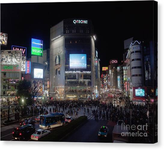 Shibuya Crossing Canvas Print by Ei Katsumata