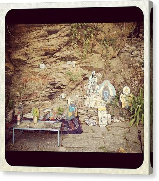 Temples Canvas Print - #shiva #cafe #mcleodganj #trek #boom by Sahil Gupta