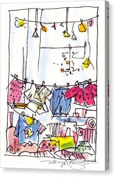 Shop Window Paris Canvas Print