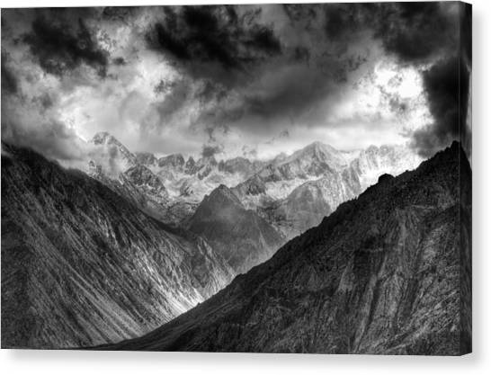 High dynamic range image canvas print sierra nevada mountains california usa october
