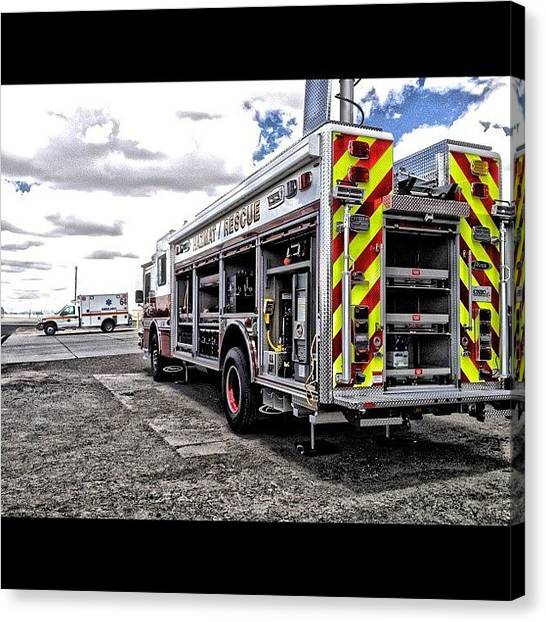 Firefighters Canvas Print - #sky #clouds #iphone4s by James Crawshaw