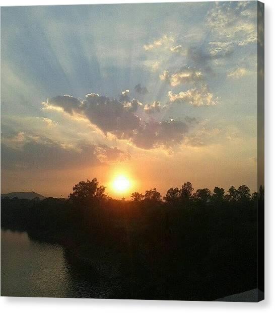 Ocean Sunrises Canvas Print - #sky #sunset #sunrise #sun #sunny by A Bhadauria