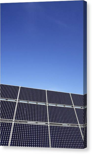Solar Farms Canvas Print - Solar Panels by Carlos Dominguez
