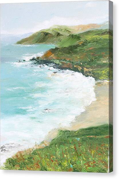 Somewhere On Big Sur Canvas Print by Max Mckenzie