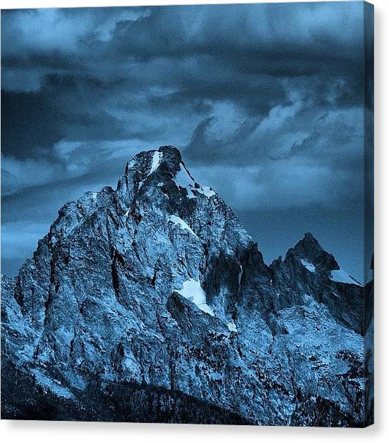 Tetons Canvas Print - Southeast Face Of Grand Teton. #alpine by Chris Bechard