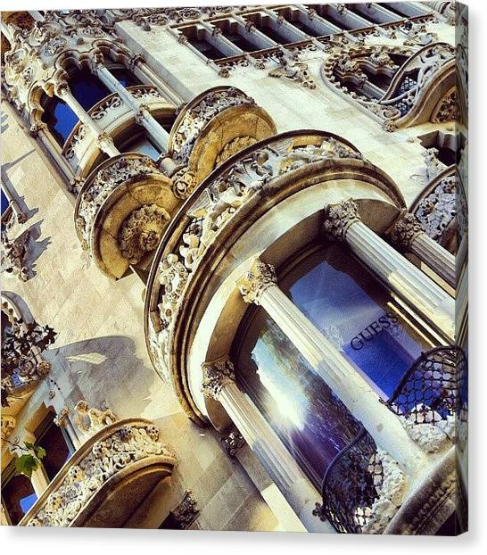 Baroque Art Canvas Print - #spain #barcelona #urban #architecture by Tim Brown