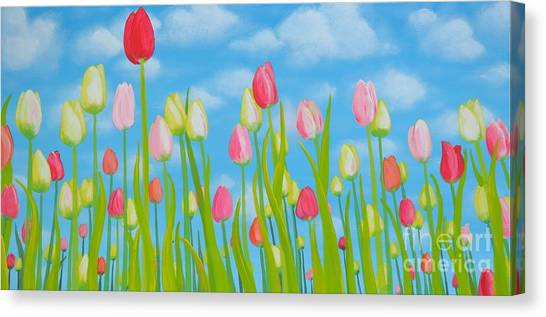 Spring Festival Canvas Print by Holly Donohoe