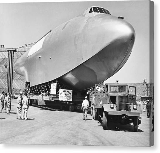 Seaplanes Canvas Print - Spruce Goose Hull On The Move by Underwood Archives