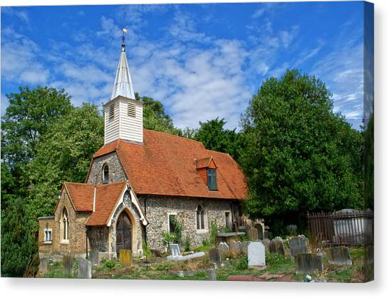 St Laurence Church Cowley Middlesex Canvas Print