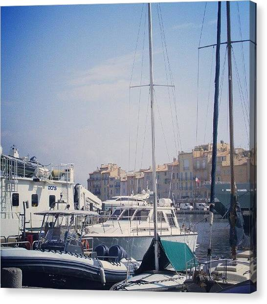 Yachts Canvas Print - St Tropez by Louise Teolis