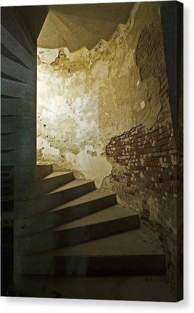 Staircase Down Into The Demilune Canvas Print