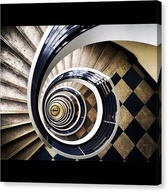 Spiral Canvas Print - #stairs #endless #arty #spiral by Anna P