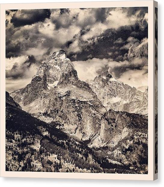 Tetons Canvas Print - Stand By My Side And We Shall Explore by Chris Bechard