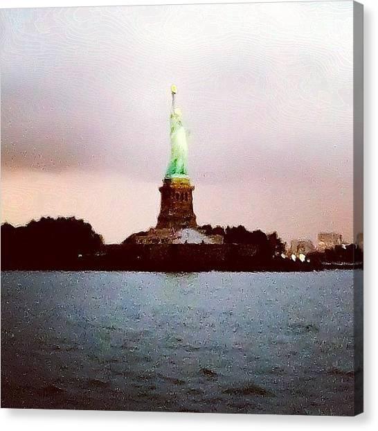 Hurricanes Canvas Print - Statue Of Liberty by Hurricane Katrina