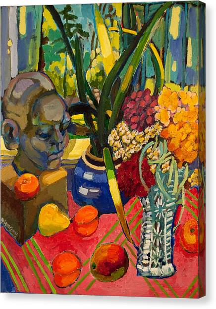 Still Life With Cut Glass Vase Canvas Print
