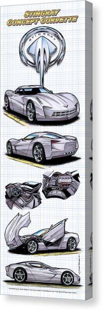 Stingray Concept Corvette Canvas Print